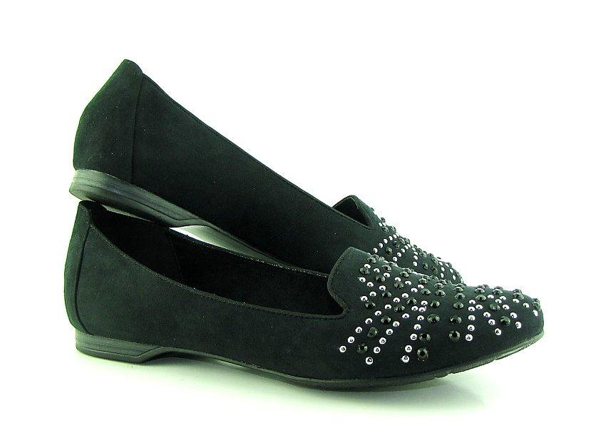 87b2113b0 Pohodlné dámske čierne balerinky MARCO TOZZI • Kabelky-topanky.sk