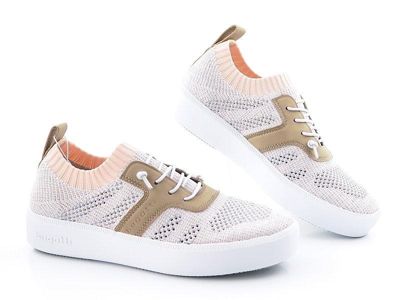 1a9387f64e348 Pohodlné dámske púdrovo-strieborné topánky BUGATTI • Kabelky-topanky.sk
