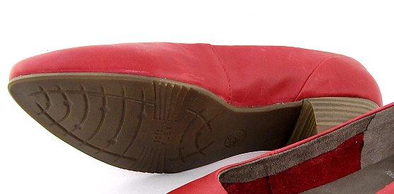 11f9d4e7b718c Pohodlné kožené červené lodičky na nízkom podpätku JANA • Kabelky ...