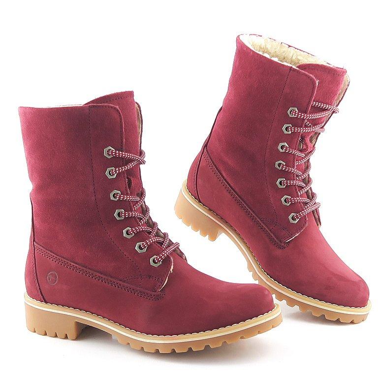 e821810dc5d03 Pohodlné kožené červené topánky TAMARIS • Kabelky-topanky.sk