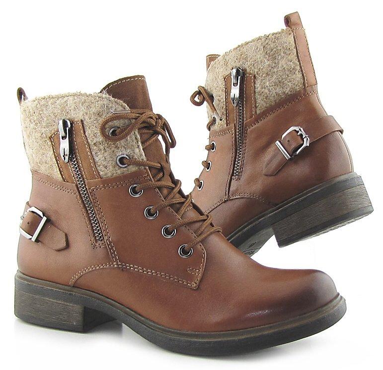 a4d12993b Pohodlné kožené hnedé topánky TAMARIS • Kabelky-topanky.sk