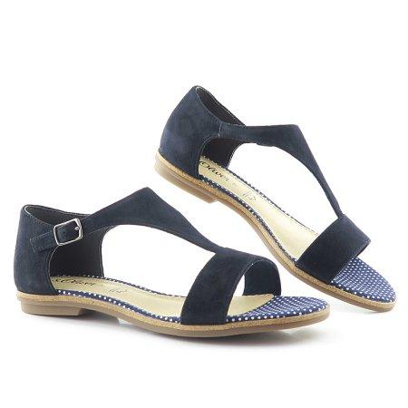 585b520638291 Pohodlné letné modré sandálky S.OLIVER 5-28116-22
