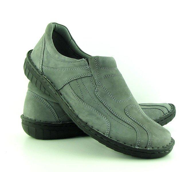 9a19c248b034b Pohodlné pánske sivé kožené topánky NIK • Kabelky-topanky.sk