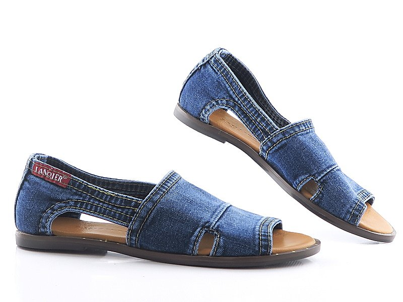 384602d0771c7 Rifľové dámske sandálky LANQIER • Kabelky-topanky.sk
