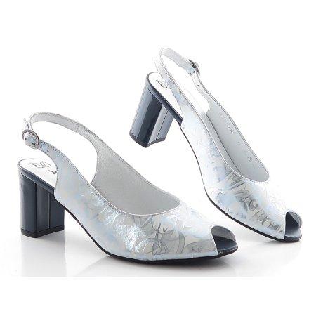 e4775c6cdc627 Sandále bielo-strieborné ASPENA PES-1930