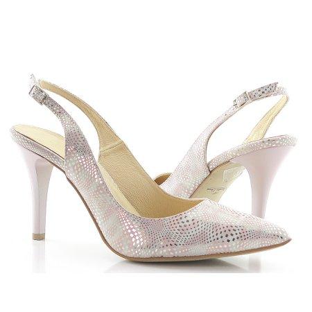 8ff5c6643 Sandále púdrovo-strieborné CLAUDIO DESSI 5314