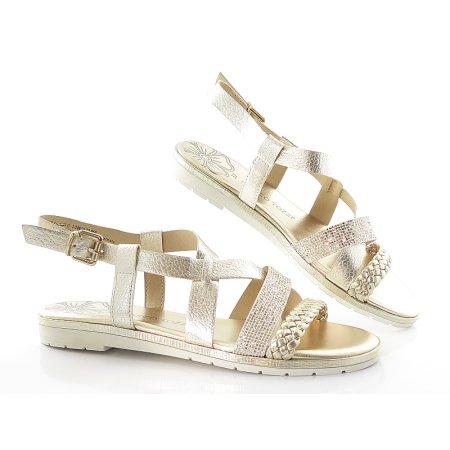 8a03e73462d5a Sandále zlaté MARCO TOZZI 2-28610-22