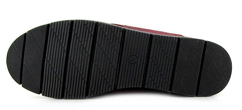 6141a2516b4da Štýlové dámske bordové topánky na šnurovanie KAMPA • Kabelky-topanky.sk