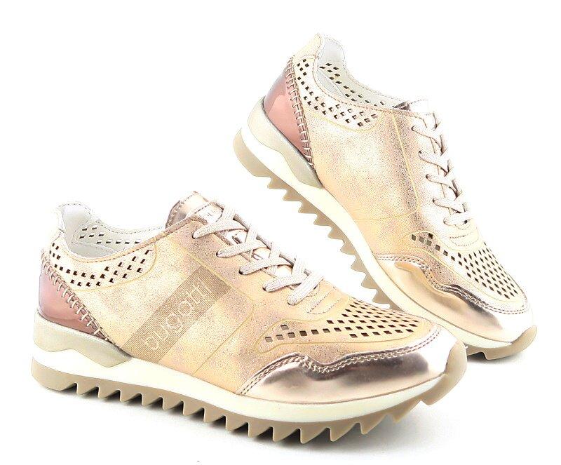 f3cdaf4ac Štýlové dámske púdrové topánky so zlatým odleskom BUGATTI • Kabelky ...