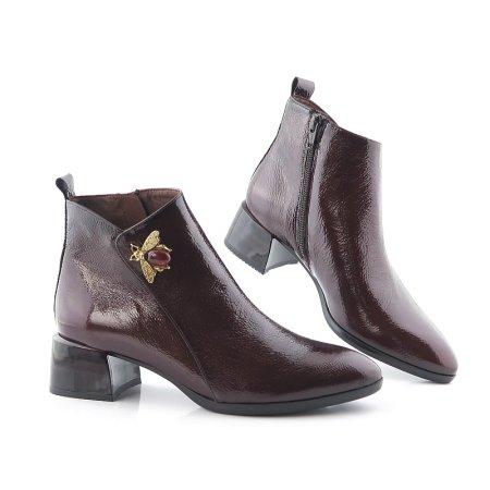 ec965be0eaca1 Štýlové kožené bordové topánky HISPANITAS