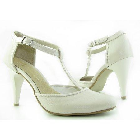 52c3dc87c9f83 Svadobné béžové sandálky na podpätku GIFT
