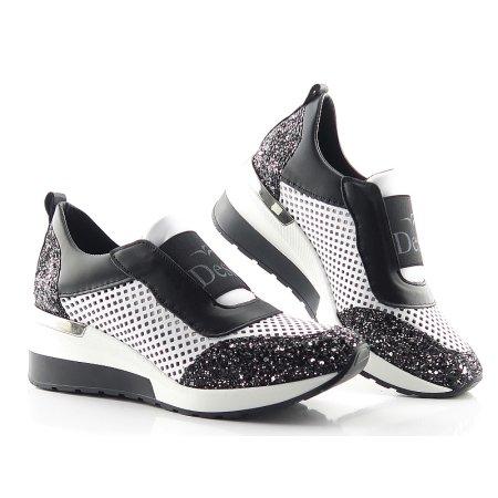 304d72ae8c9de Topánky bielo-čierne CLAUDIO DESSI 6408