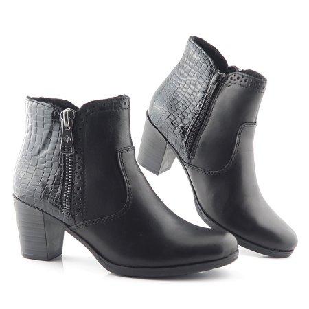 9c71bebe7 Trendové čierne členkové topánky RIEKER