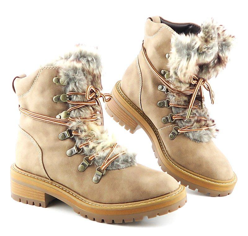 5d74b4502283b Trendové hnedé topánky s kožušinou S.OLIVER • Kabelky-topanky.sk