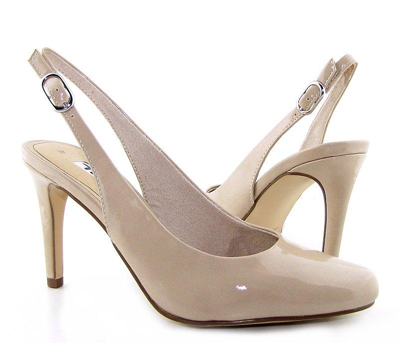 b1035f757dce9 Trendové lakované béžové sandálky TAMARIS • Kabelky-topanky.sk