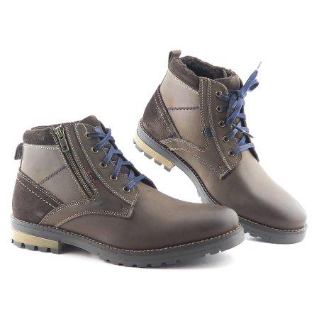 05f11f36507b9 Trendové pánske hnedé topánky na šnurovanie KLONDIKE
