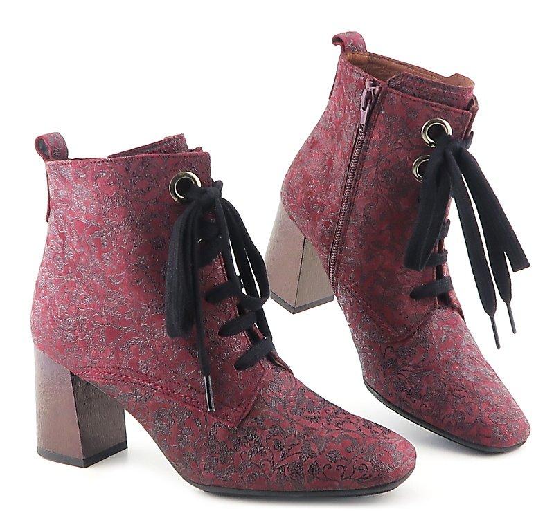 e133d1d0f Výrazné kožené bordové topánky HISPANITAS • Kabelky-topanky.sk