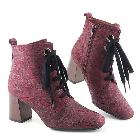 36f8d507c1ccf Výrazné kožené bordové topánky HISPANITAS