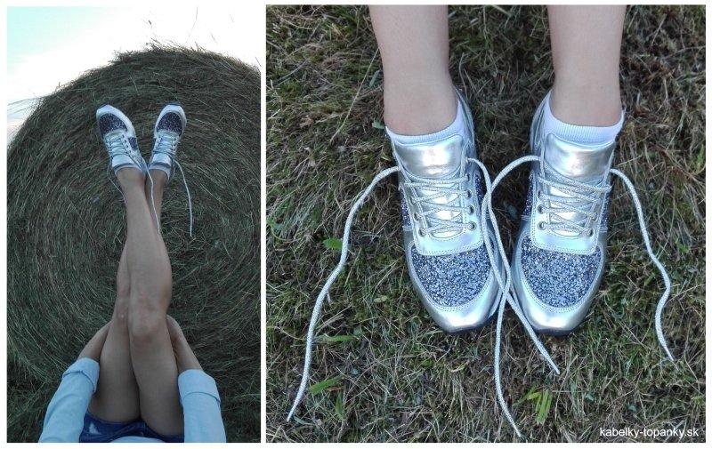 6e32429a0e7a4 Absolútna nutnosť sú metalické farby na topánkach, ktoré má nejedna z nás  už vo svojom šatníku. Top bude najmästrieborná. Čím žiarivejšia a  lesklejšia, ...